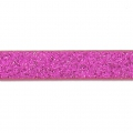 Fancy ribbon imitation leather 5 mm Fuchsia Glitter x1.2m