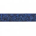 Fancy ribbon imitation leather 5 mm Dark Blue Glitter x1.2m