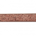 Fancy ribbon imitation leather 5 mm Copper Brown Glitter x1.2m