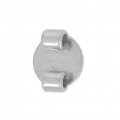 Slider bead 2 mm to decorate - Stainless steel x 1