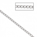 Stainless steel flat ovale plate links chain 2x3 mm x1 m