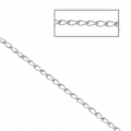 Stainless steel flat ovale plate links chain 1.6x2.9 mm x1 m