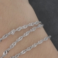 Stainless steel singapour links chain 4x3.20 mm x1m