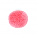 Round synthetic pompon 2 cm Dark Pink x1