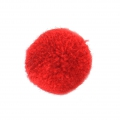Round synthetic pompon 2 cm Dark Red x1