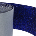 Fancy Glitter ribbon caviar style 10 cm Navy x10cm