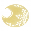 Light filigree iron moon pendants 50.5x48 mm Gold Tone x2