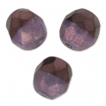 Faceted beads Duet 8 mm two-tone Black/Opaque Amethyst Lusterx20