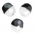 Faceted beads Duet 8 mm two-tone Black/Opaque White x20