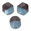 Faceted beads Duet 4 mm two-tone Black/Opaque Blue Luster x40