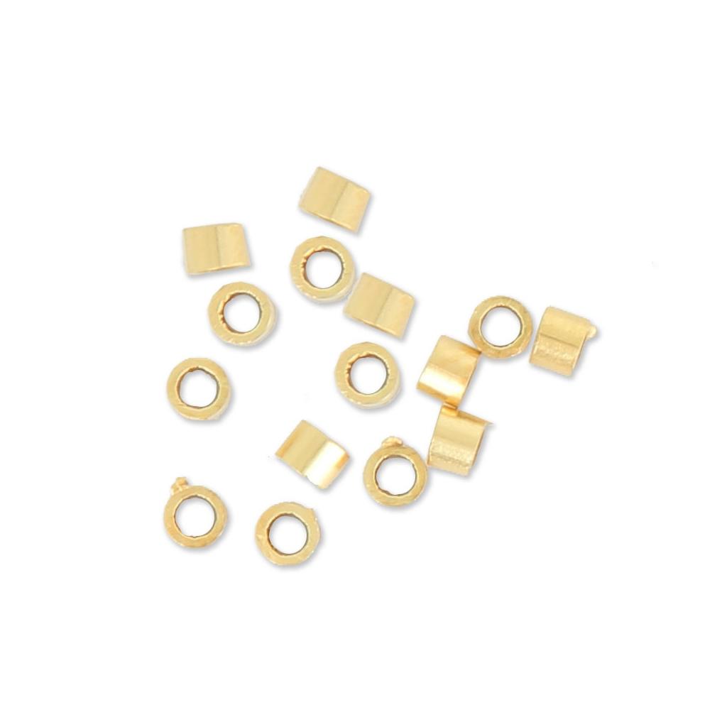 14 K Gold Filled 2 X 2 MM Crimp Beads Pack of 100