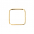 14K Gold filled Closed Square Ring 14 mm x1
