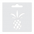 Stencil Aladine 8x8 cm for 3D Izink clay - Pineapple
