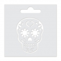 Stencil Aladine 8x8 cm for 3D Izink clay - Skull