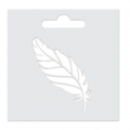 Stencil Aladine 8x8 cm for 3D Izink clay - Feather
