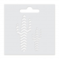 Stencil Aladine 8x8 cm for 3D Izink clay - Cactus