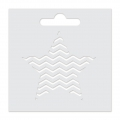 Stencil Aladine 8x8 cm for 3D Izink clay - Star