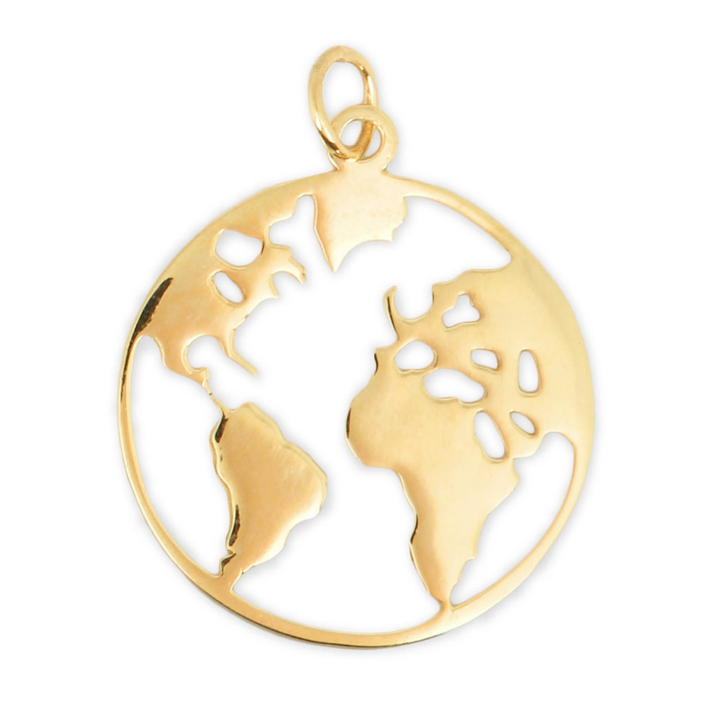 925 sterling silver world map pendant 235 mm gold tone x1 perles co 925 sterling silver world map pendant 235 mm gold tone x1 gumiabroncs Image collections