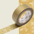 Masking Tape Christmas 15 mm - draw me Christmas pattern / line drawing x7m