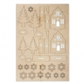 Kit wooden Winter House 8 cm Raw Wood