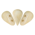 Glass beads Amos® by Puca® 5x8 mm Opaque Beige Ceramic Look x10g