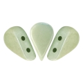 Glass beads Amos® by Puca® 5x8 mm Opaque Light Green Ceramic Look x10g