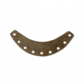 Metal half-moon spacer for Miyuki Delicas with a diamond effect 37 mm - Bronze Tone x1