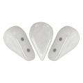 Glass beads Amos® by Puca® 5x8 mm Opaque White Ceramic Look x10g