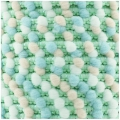 Pompon ribbon 13 mm Mint/Pink/Blue/White x1m
