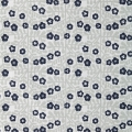 Cotton fabric Cosy Fabrics - Flower pattern GreyBlue/White x10cm
