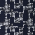 Cotton fabric Cosy Fabrics - Graphic pattern Night Blue/White x10cm