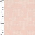 Coated cotton fabric Cosy Fabrics - Graphic pattern Antique Rose x10cm