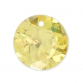 Round Zirconium Pendant 10 mm Golden x1