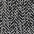 Thick fabric (tweed style) - Black/White x10cm