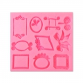 Silicone mold for polymer and metal clay - Photo frames