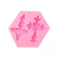 Silicone mold for polymer and metal clay - Flowers Chandeliers