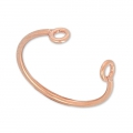 Ring 2 loops 925 Sterling Silver - 18 carat 3-micron Rose Gold-plated x1