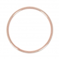 925 Sterling Silver Ring 20 mm 18 carat 3-micron Rose Gold-plated x1