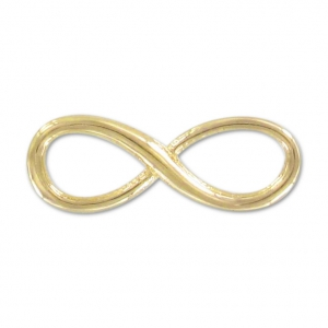 925 Sterling Silver infinity sign spacer 12 mm 3-micron Gold-plated x1
