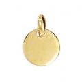 925 Sterling Silver medal charm 11 mm 18 carat 3-micron Gold-plated x1