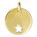 925 Sterling Silver star charm 15 mm - 18 carat 3-micron Gold-plated x1