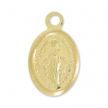 925 Sterling Silver Virgin charm 11x7 mm 18 carat 3-micron Gold-plated x1