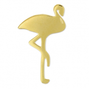 925 Sterling Silver flamingo charm 24 mm 18 carat 3-micron Gold-plated