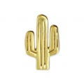 925 Sterling Silver cactus charm 8 x 14 mm Gold-plated