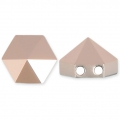 Hexagon Spike Bead Swarovski 5060 two holes 7.5 mm Crystal Rose Gold x1