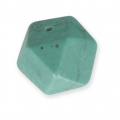 Faceted turquoise dyed howlite bead 12x16.5 mm Turquoise x1