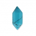 Spike-shaped Howlite pendant 20x8 mm Turquoise x1