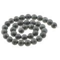 Druse Agate Round bead 10 mm Silver x5