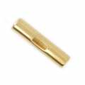 T cylinder Clasp 25 mm for 3 mm lace - Gold Tone x1