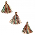 Imitation cotton tassels 26-30 mm Multicolored x10